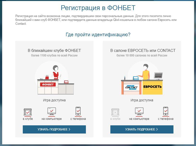 регистрация в фонбет через евросеть